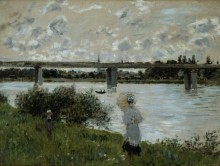 Прогулка у железнодорожного моста, Аржантёй - Моне, Клод