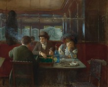 Игра в нарды в кафе - Беро, Жан