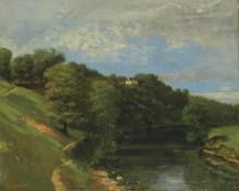 Шато на берегу реки - Курбе, Гюстав