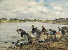 Прачки на берегу реки Тук, 1888-95 - Буден, Эжен