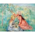 Девушки, собирающие цветы - Ренуар, Пьер Огюст