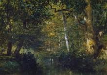 Лесной пейзаж с ручьем - Труайон, Констан