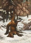 Мертвая лисица - Курбе, Гюстав