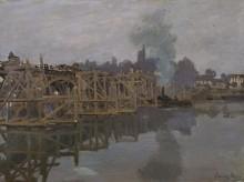 Мост на ремонте, 1871-1872 - Моне, Клод