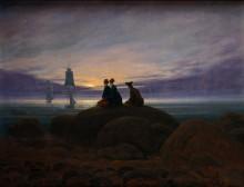 Восход луны над морем - Фридрих, Каспар Давид
