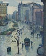 Смотреть на юг с Бродвея, 1914 -  Кролл, Леон