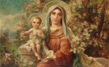Мадонна с Младенцем на фоне пейзажа - Зацка, Ханс