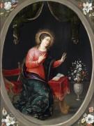 Мадонна с букетом цветов - Брейгель, Ян (младший)