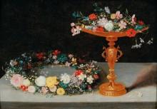 Венок и чаша с цветами - Брейгель, Ян (младший)