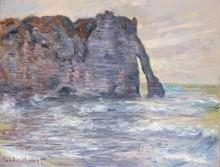 Скалы в Пор д'Аваль, Этрета - Моне, Клод