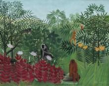 Тропический лес с обезьянами - Руссо, Анри