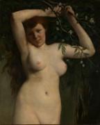 Женщина с цветущей веткой - Курбе, Гюстав