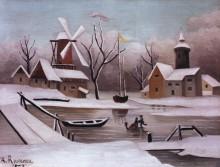 Конькобежцы на замерзшем пруду - Руссо, Анри