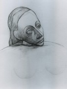 Голова женщины, 1907 - Пикассо, Пабло