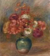 Букет цветов в зеленой вазе - Ренуар, Пьер Огюст