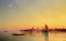 Вид на Венецианскую лагуну при закате дня - Айвазовский, Иван Константинович