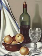 Бутылка вина и лук - Лемпицка, Тамара