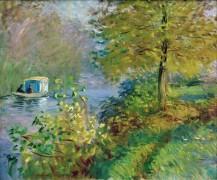 Лодка-мастерская художника - Моне, Клод