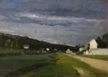 Пейзаж с грозовыми облаками - Писсарро, Камиль