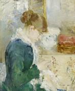 Женщина за шитьем - Моризо, Берта