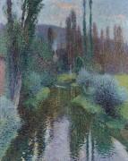 Пейзаж с тополями вдоль реки Вер - Мартен, Анри Жан Гийом