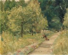 Сад в Ванзе с садовником, 1923-24 - Либерман, Макс