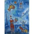 Цирк в голубом небе Парижа - Шагал, Марк Захарович