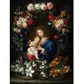 Мадонна с Младенцем в цветочном картуше - Брейгель, Ян (младший)