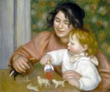Ребенок с игрушками (Габриэль и Жан Ренуар) - Ренуар, Пьер Огюст