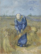 Крестьянка, вяжущая снопы (по мотивам Милле) (Peasant Woman Binding Sheaves (after Millet), 1889 - Гог, Винсент ван
