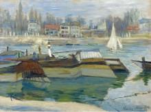 Лодки в Аньере, 1873 - Моне, Клод