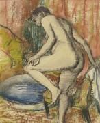 Дама после купания, 1883 - Дега, Эдгар