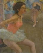 Балерина Мари-Лиз за кулисами подготавливается к танцу - Галл, Франсуа