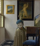 Дама, стоящая у вирджиналя - Вермеер, Ян
