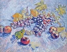 Натюрморт с яблоками, грушами, лимонами и виноградом (Grapes, Lemons, Pears and Apples), 1887 - Гог, Винсент ван