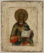 Триптих Господь Вседержитель с неизвестными святыми