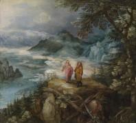 Горный пейзаж с искушением Христа - Брейгель, Ян (Старший)