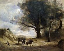 Пейзаж с каменотесами - Коро, Жан-Батист Камиль