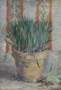 Цветочный горшок с луком (Flowerpot with Chives), 1887 - Гог, Винсент ван
