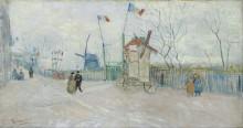 Уличная сцена в Монмартре (The Allotments at Montmartre), 1887 - Гог, Винсент ван