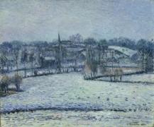 Снега в Эрани, 1884 - Писсарро, Камиль