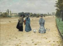 Авеню дю Буа в Булони, 1874 - Ниттис, Джузеппе Де