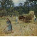Сенокос (Hay-Mowing) - Монтезин, Пьер Эжен