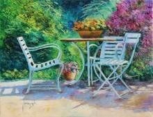 Столик в саду - Жаньячик, Жан-Марк (20 век)