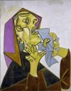 Плачущая женщина с носовым платком - Пикассо, Пабло