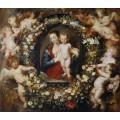 Мадонна с Младенцем в цветочной гирлянде - Брейгель, Ян (Старший)
