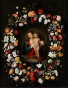 Мадонна с Младенцем в цветочной гирлянде - Брейгель, Ян (младший)