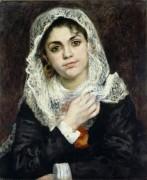 Лиза в белом платке - Ренуар, Пьер Огюст