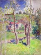 Холмистый пейзаж - Писсарро, Камиль