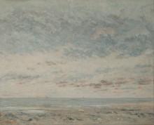 Отлив в Трувиле - Курбе, Гюстав